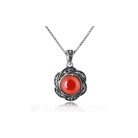 Flower Shaped Alloy With Imitation Crystal Ladies' Fashion Necklace (137053832)