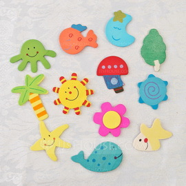 Beach Theme Wooden Stickers (Set of 12 pieces) (051053234)