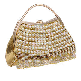Unique Crystal/ Rhinestone/Pearl Clutches/Top Handle Bags (012200332)
