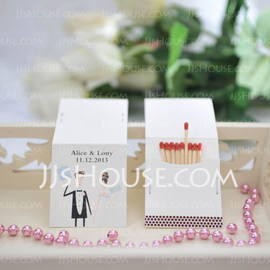 Personalized Bride And Groom Hard Card Paper (Set of 50) (118031599)
