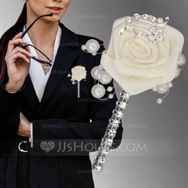 Classic Satin Boutonniere (Sold in a single piece) - (123182829)