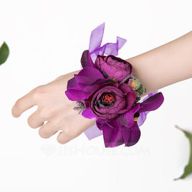 Bridesmaid Gifts - Beautiful Elegant Satin Wrist Corsage (256176239)