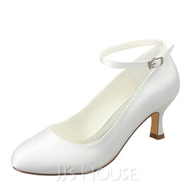 Women's Silk Like Satin Stiletto Heel Closed Toe Pumps With Others (047174989)