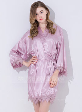 Lace Bride Bridesmaid Blank Robes Lace Robes (248185545)