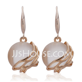 Elegant Alloy Ladies' Earrings (011027310)