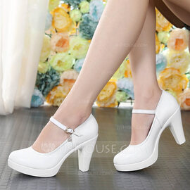 Women's Real Leather Heels Ballroom Character Shoes Dance Shoes (053124780)