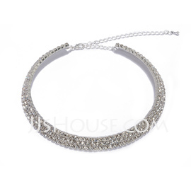 Beautiful Alloy With Rhinestone Necklaces (011027671)