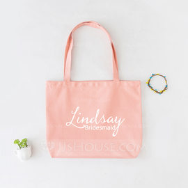 Bridesmaid Gifts - Personalized Beautiful Canvas Style Cotton Tote Bag