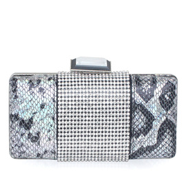 Gorgeous PU With Rhinestone Clutches (012052507)