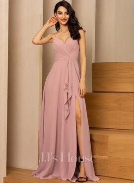 V-Neck Sleeveless Maxi Dresses (293250431)