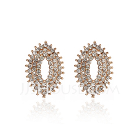Fashion Alloy With Crystal Ladies' Earrings (011027335)