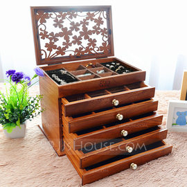 Bride Gifts - Vintage Wooden Jewelry Box (255183258)