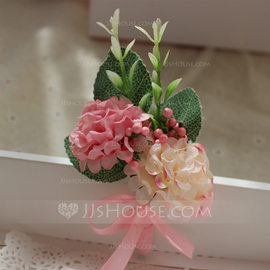 Hand-tied Silk Flower Boutonniere (Sold in a single piece) - Boutonniere (123182679)
