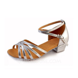 Women's Leatherette Heels Latin With Buckle Dance Shoes (053103205)