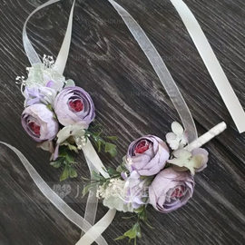 Hand-tied Artificial Flower Flower Sets (set of 2) - Wrist Corsage/Boutonniere (123197554)