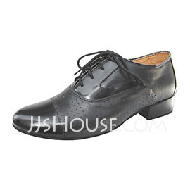 Men's Real Leather Heels Latin Ballroom Practice Character Shoes Dance Shoes (053013190)