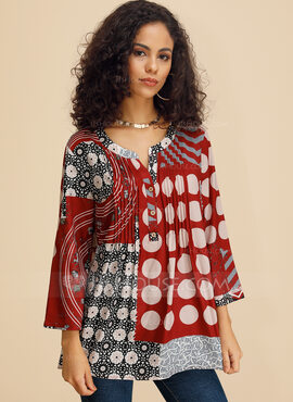manches 3/4 Polyester Col V Blouses (1003223733)