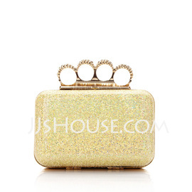 Shining Sparkling Glitter With Rhinestone Clutches (012025492)