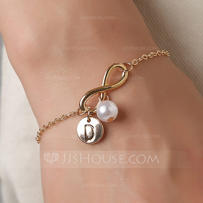 Bridesmaid Gifts - Personalized Solid Color Alloy Imitation Pearls Bracelet