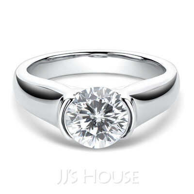 Men's Classic 925 silver and chain Moissanite Initial Rings/Promise Rings/Engagement Rings Rings