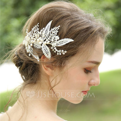 Ladies Beautiful Rhinestone/Alloy/Imitation Pearls/Freshwater Pearl/Beads Hairpins (Set of 2)