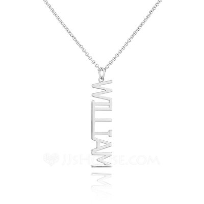 [Free Shipping]Custom Sterling Silver Signature Name Necklace