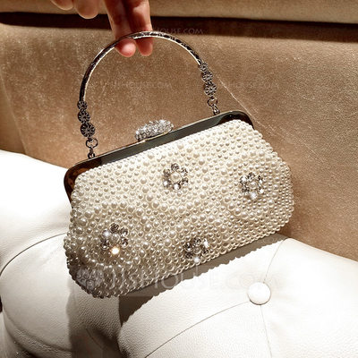 Elegant Alloy Clutches/Top Handle