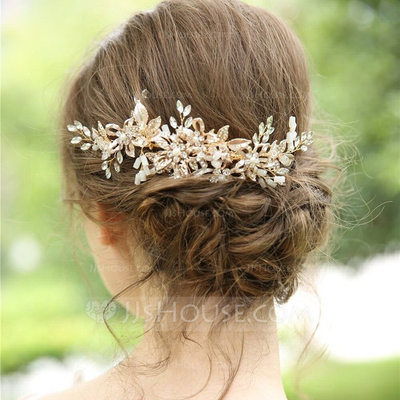 Ladies Beautiful Crystal/Rhinestone/Alloy Combs & Barrettes With Rhinestone/Crystal (Sold in single piece)