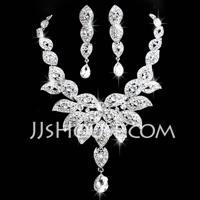 Magnificent Alloy/Rhinestones Ladies' Jewelry Sets