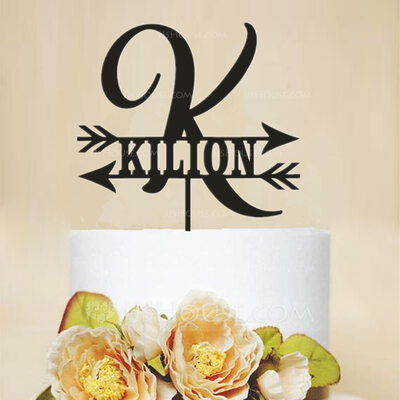 Personalized Classic/Woodland Acrylic Cake Topper