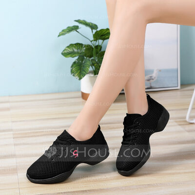 Women's Cloth Sneakers Modern Jazz Sneakers Dance Shoes