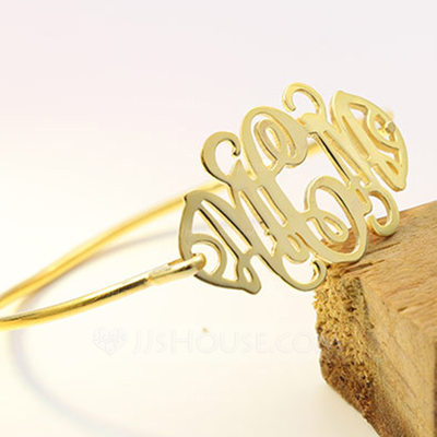 Personalized Ladies' Exquisite Gold Plated Name Bracelets For Bridesmaid/For Friends