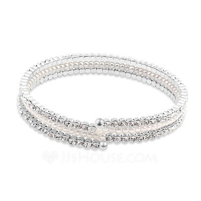 Charming Platinum Plated With Crystal Ladies' Bracelets