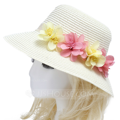 Simple Imported Paper/Rattan Straw Flowers & Feathers