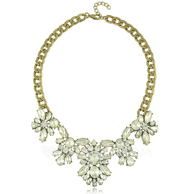 Elegant Alloy With Crystal Ladies' Necklaces