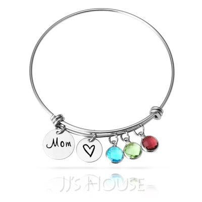 Bangle Birthstone Bracelets With Birthstone -