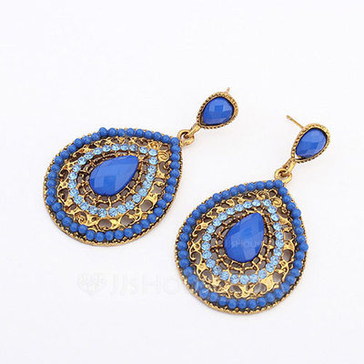 Unique Alloy With Resin Ladies' Fashion Earrings