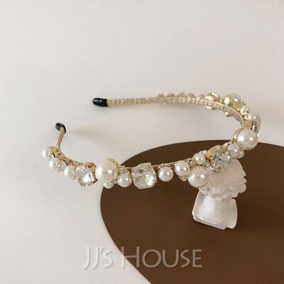 Beautiful Rhinestone/Alloy/Imitation Pearls Tiaras