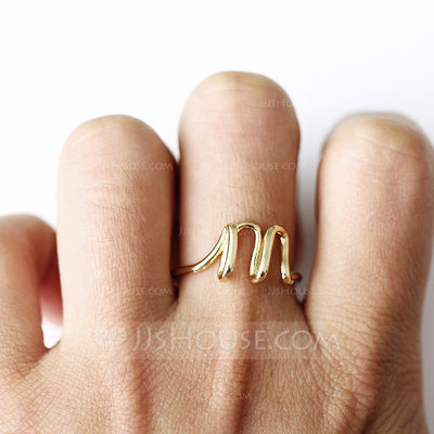 Unique Alloy Initial Rings Rings For Bride/For Bridesmaid