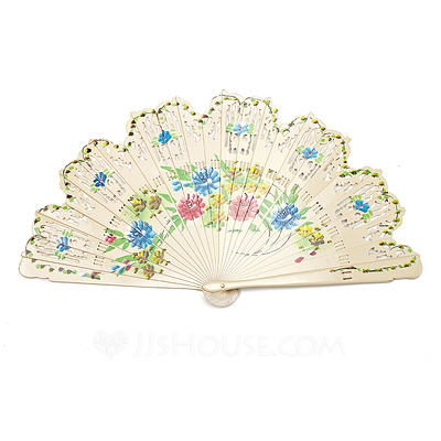 Floral Design Sandalwood Hand fan