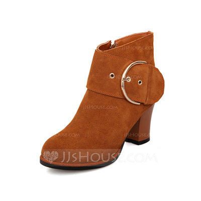 Women's Leatherette Closed Toe Ankle Boots shoes