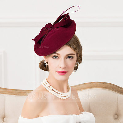 Ladies' Eye-catching Wool With Feather Fascinators/Tea Party Hats