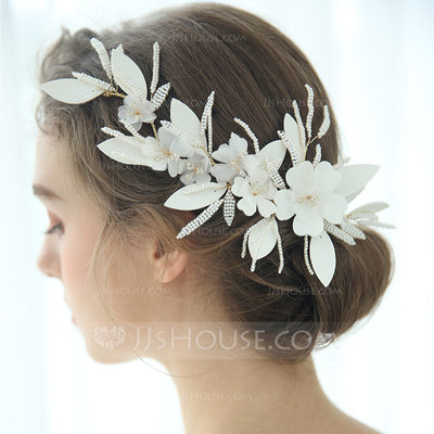 Ladies Glamourous Beads/Voile Hairpins (Sold in single piece)