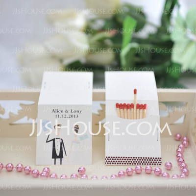 Personalized Bride And Groom Hard Card Paper (Set of 50)