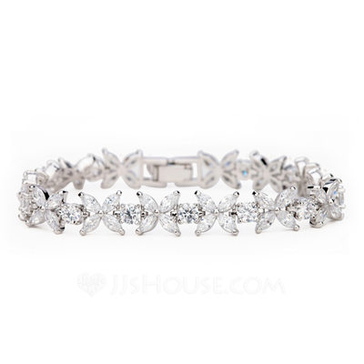 Christmas Gifts For Her - Cubic Zirconia Alloy Tennis Bridal Bracelets Bridesmaid Bracelets