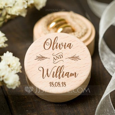 Personalized Wood Ring Box