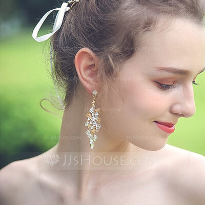 Ladies' Shining Alloy Rhinestone Earrings For Bride/For Bridesmaid/For Mother/For Friends/For Her