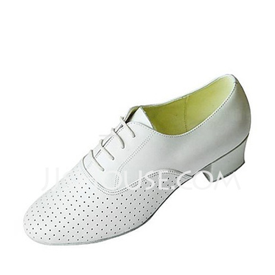 Men's Real Leather Heels Practice Dance Shoes