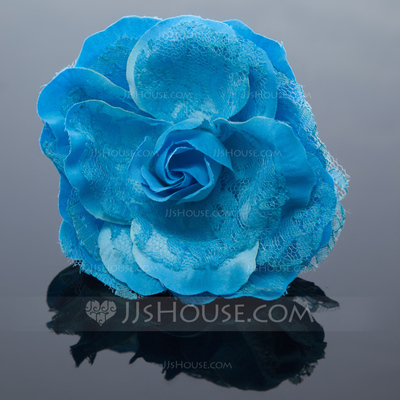 Pretty Artificial Silk/Lace Flowers & Feathers