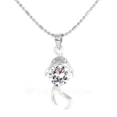 Fashional Alloy With Rhinestone Ladies' Necklaces